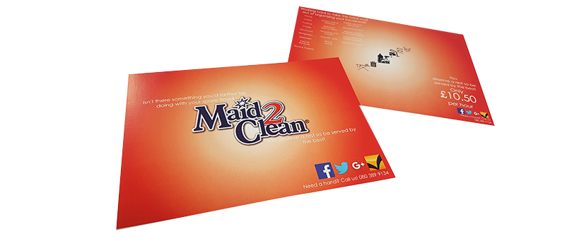 Maid2Clean Mailing Card designed by Emma Spencer