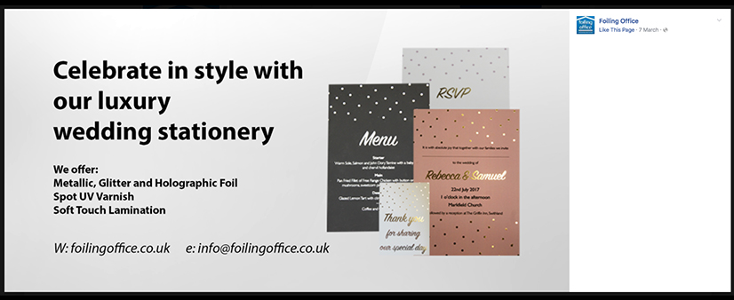 Facebook Cover Photo for Foiling Office