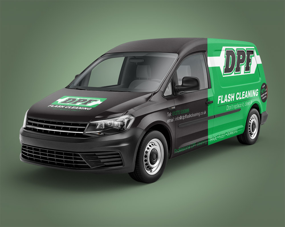 Half Wraps - Image of van showcasing Half wrap