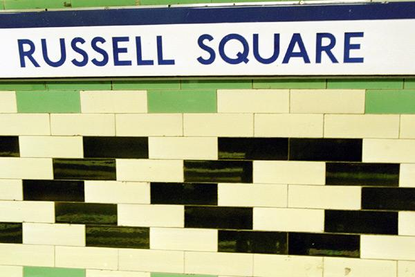 Russell Square Tube Sign