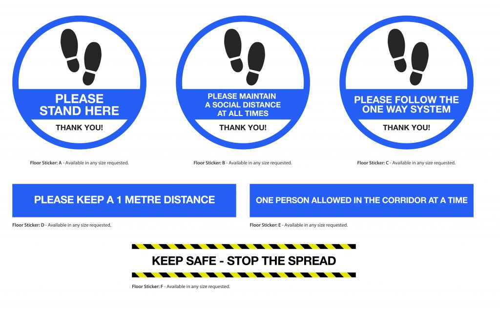 coronavirus floor stickers