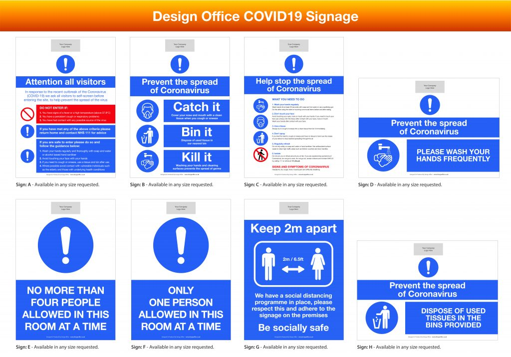 High Quality Personalised Coronavirus Signage For Your