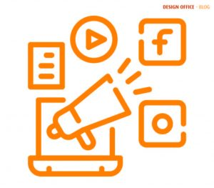 Orange graphic to represent engaging with your audience on social media