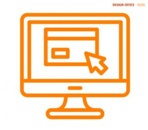 Orange icon to represent websites to sell products and services online