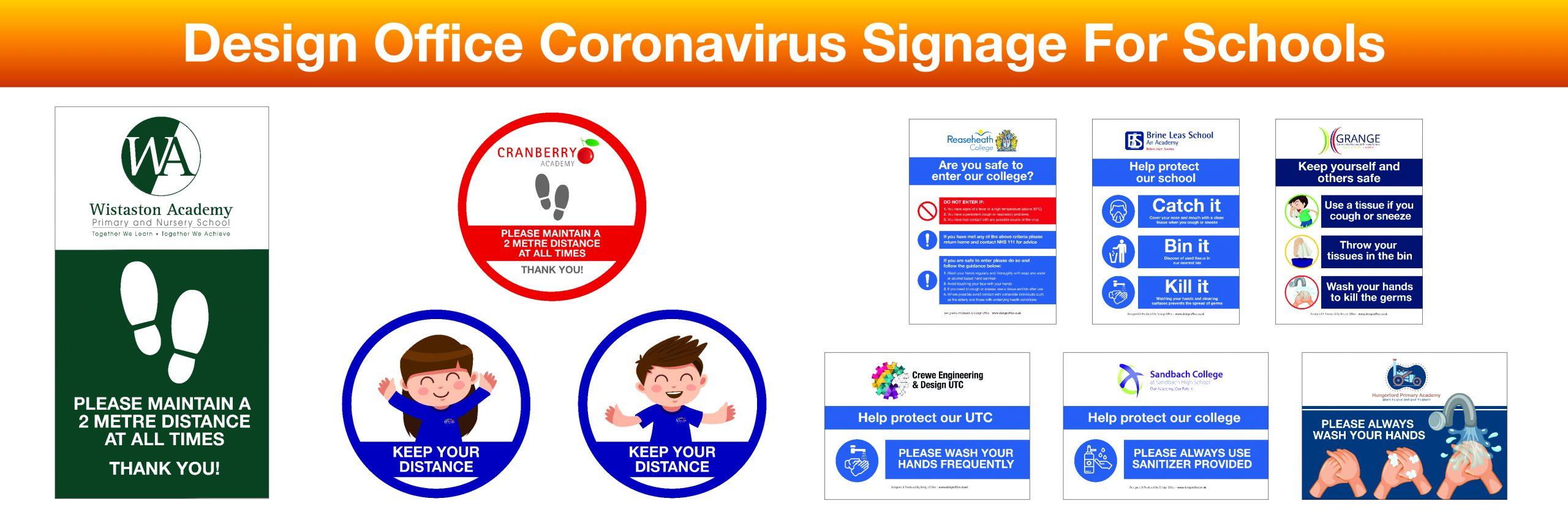 Coronavirus Signage For Schools